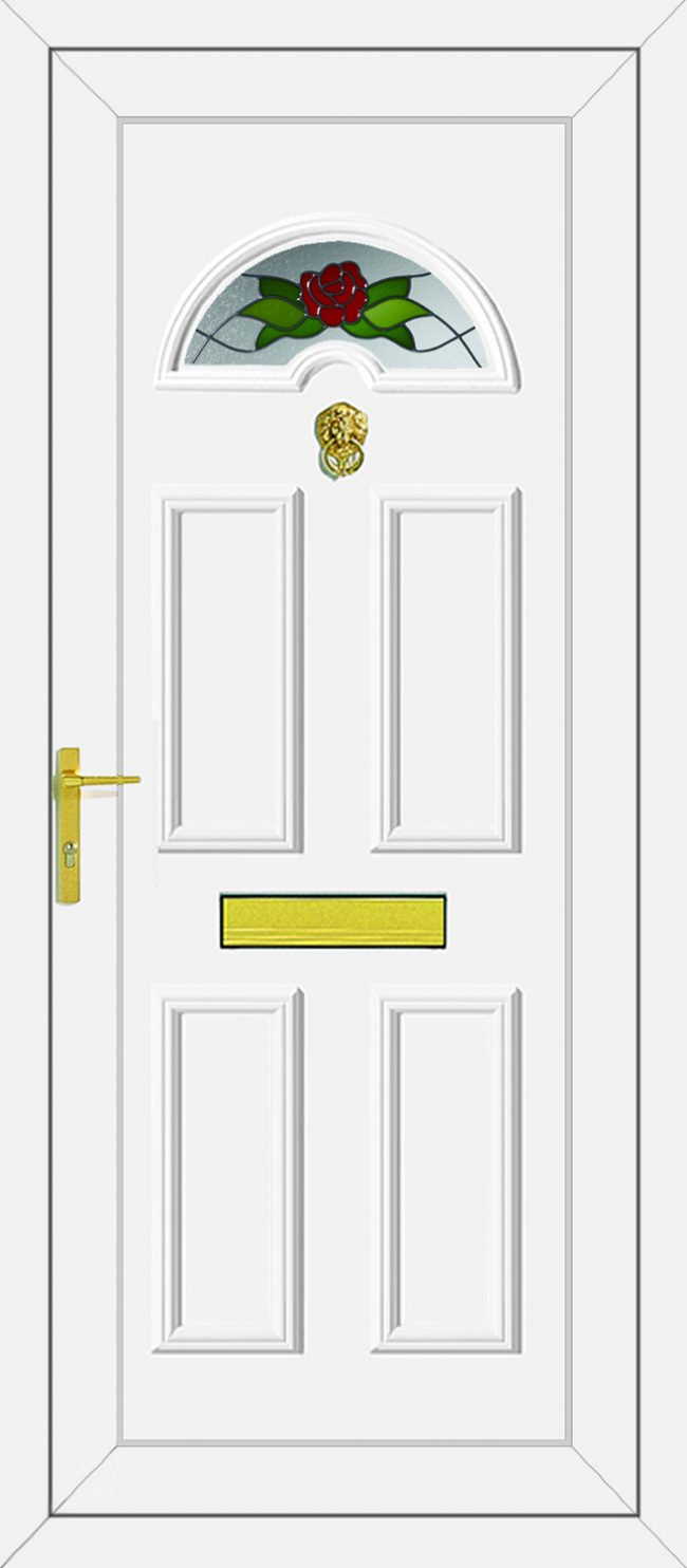 Carter 1 Country Rose UPVC Door