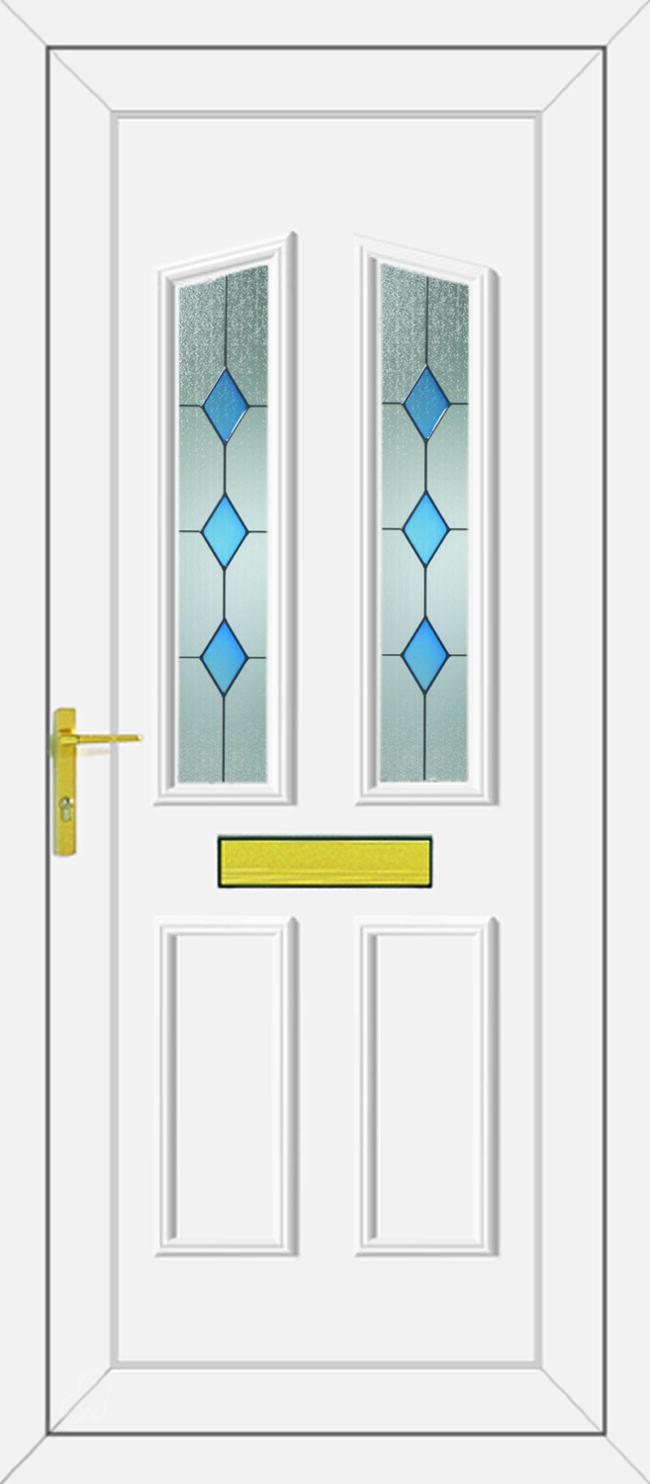 Clinton Blue Diamond UPVC Door