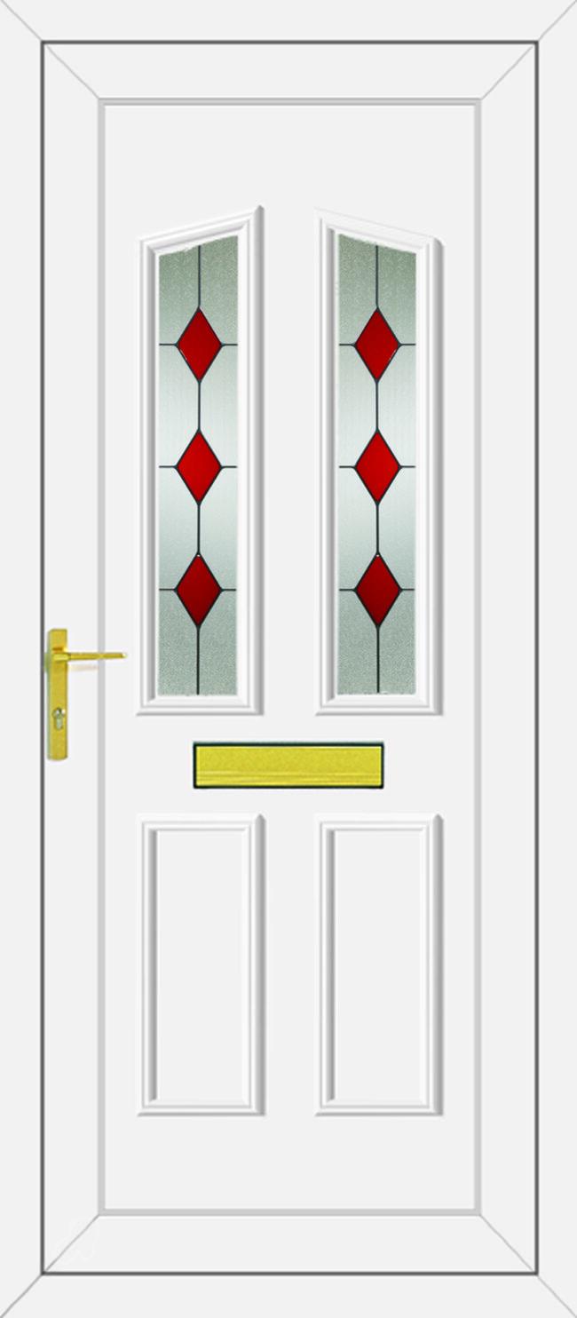 Clinton Red Diamonds UPVC Door