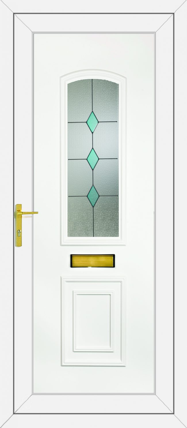 R400 Blue Diamonds UPVC Door