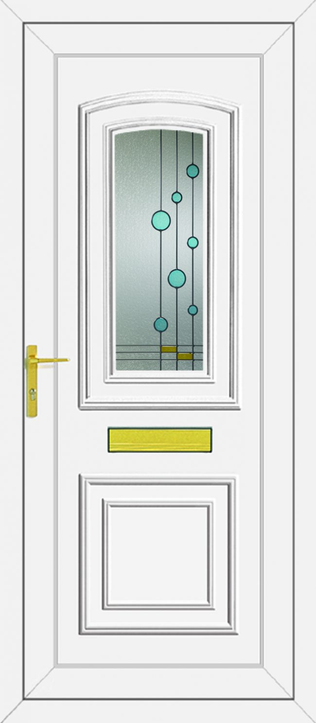 Reagan Blue Bubbles UPVC Door
