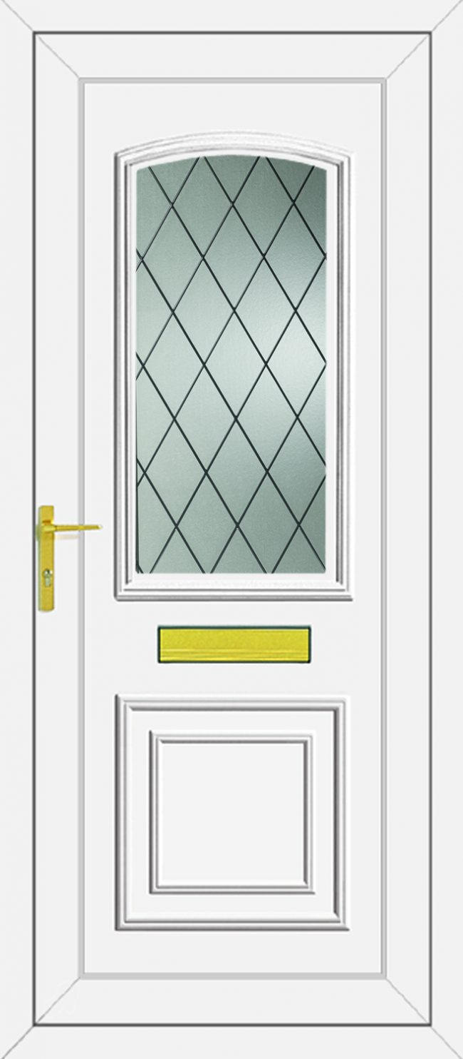 Roosevelt Diamond Lead UPVC Door