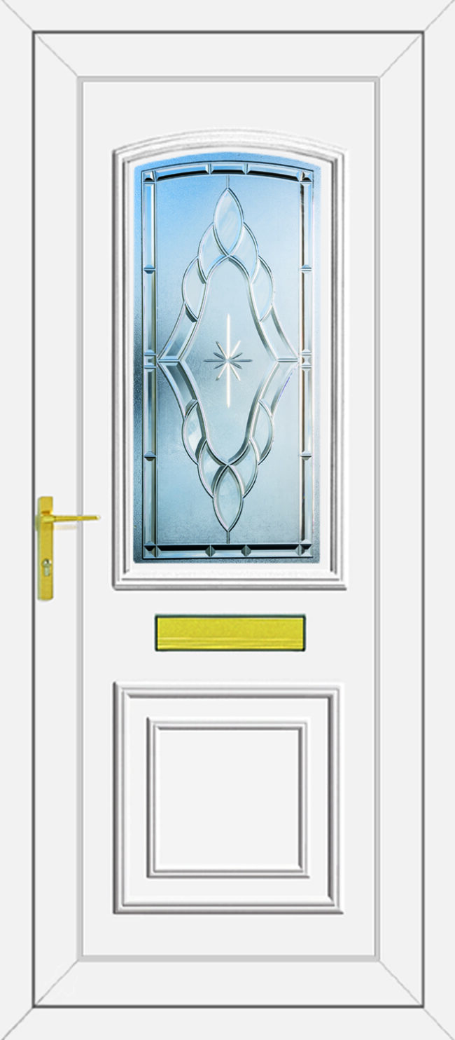 Roosevelt Sentiment Clear UPVC Door