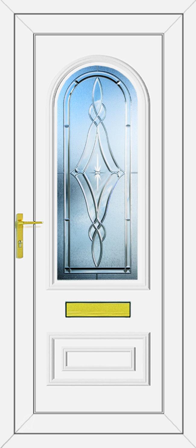 Truman Brooklyn Clear UPVC Door