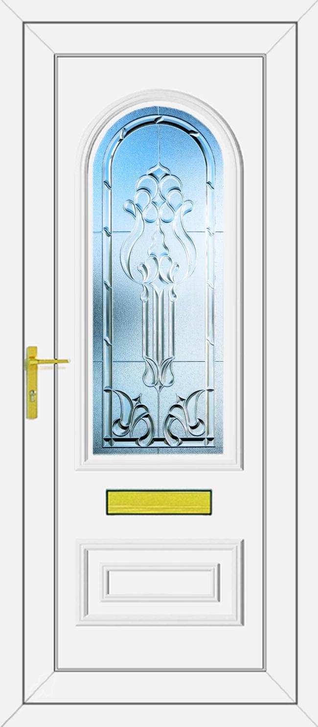 Truman Tiffany Clear UPVC Door
