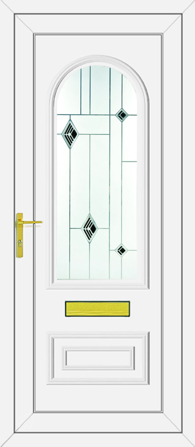 Truman Black Fusion UPVC Door