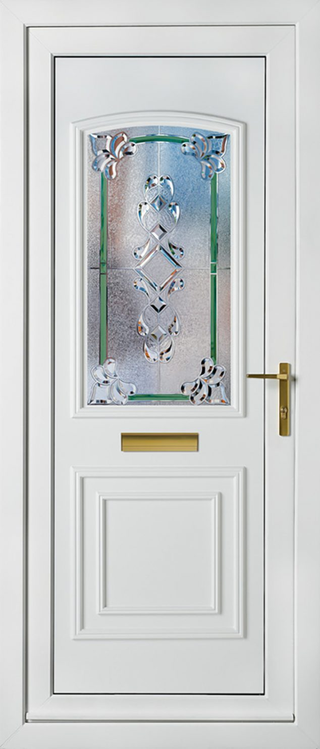 Balmoral 1 Classic Green Crystal Vega UPVC Door