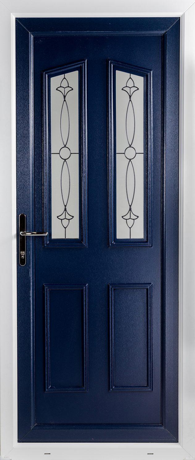 Clinton 2 Impression Blue UPVC Door