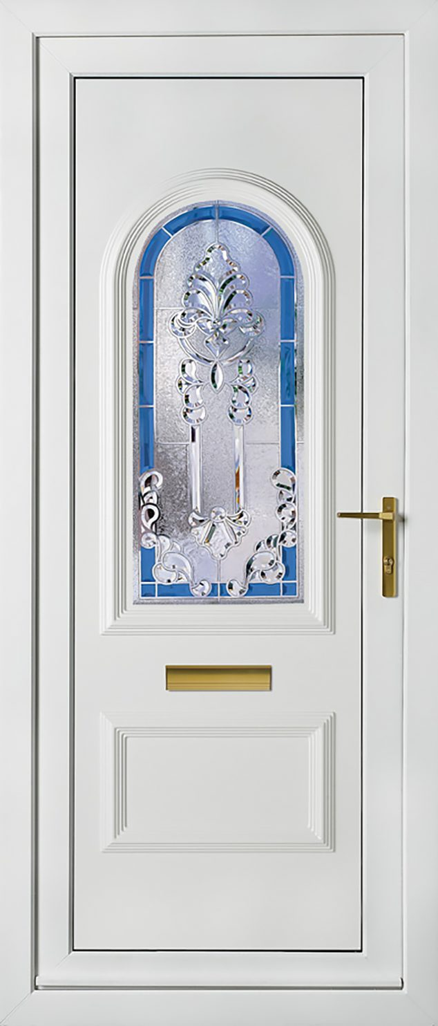 Rockingham 1 Blue Crystal Aurora UPVC Door