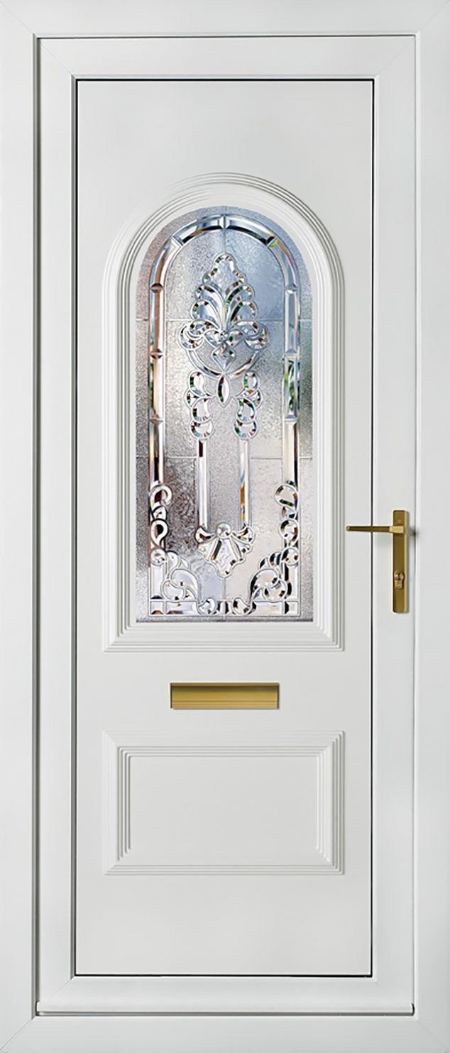 Rockingham 1 Crystal Aurora UPVC Door