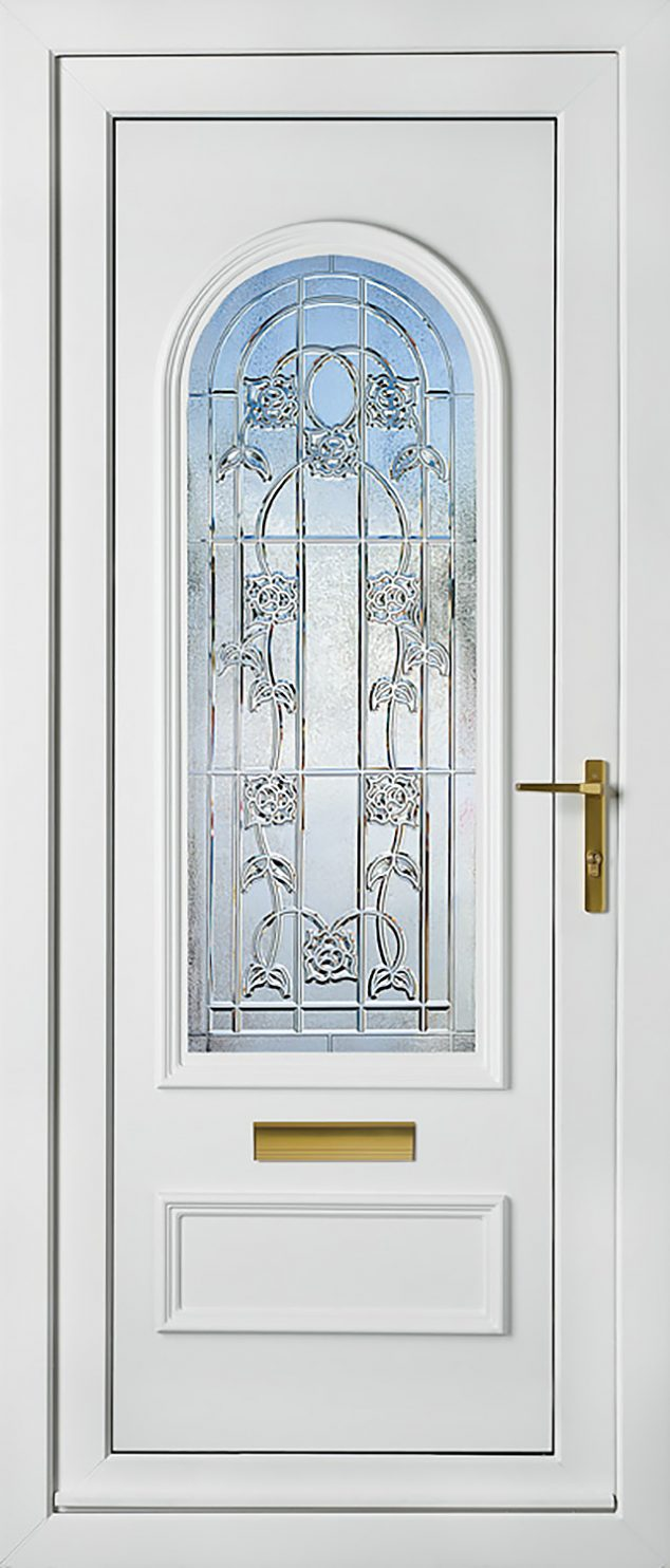 Canterbury One Crystal Carina Rose UPVC Door