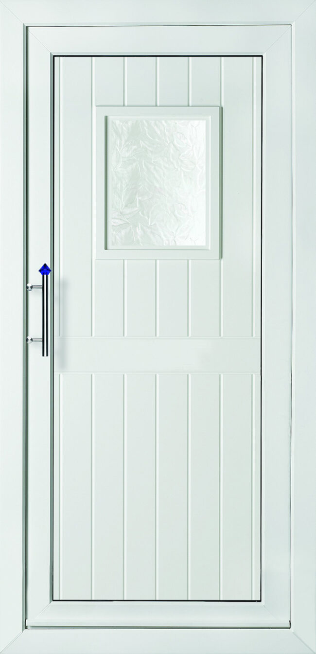 Chatsworth One Patterned Glass UPVC Door