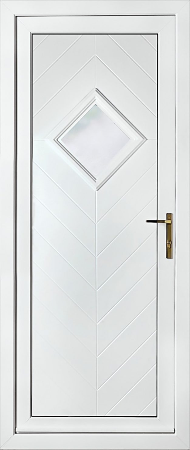 Hamburg One Patterned UPVC Door