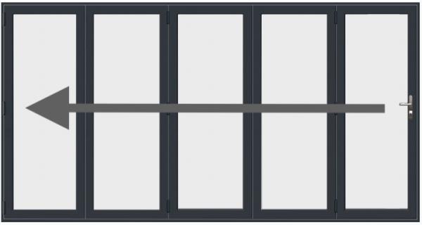 5 Pane Aluminium Bi Fold Doors