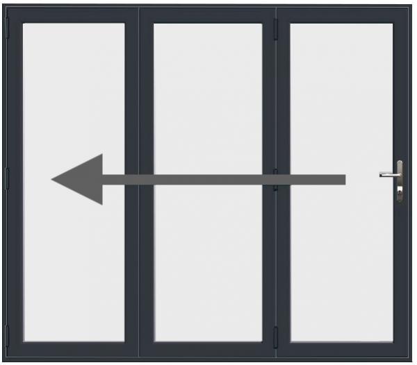 3 Pane Aluminium Bi Fold Doors