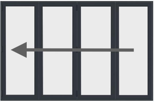 4 Pane Aluminium Bi Fold Doors