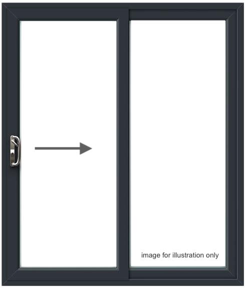 PD 6 Patio Door – Left to Right