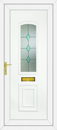 R400 Blue Diamonds UPVC Door