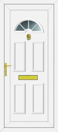 Carter 1 Georgian Bar UPVC Door