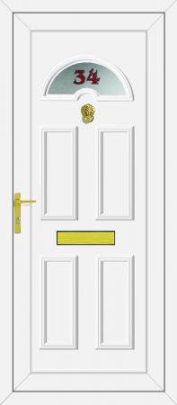 Carter 1 House Number UPVC Door
