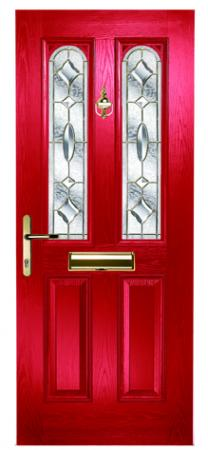 Maple arch Clarity Brass Red