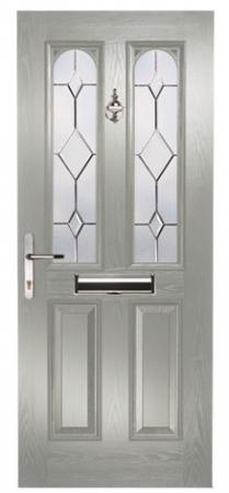Maple Arch Clear Bevels Slate